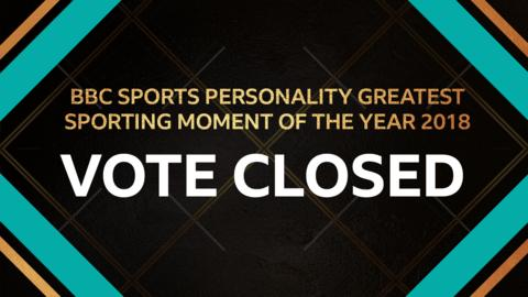 Voting for the Greatest Sporting Moment of the Year is now closed