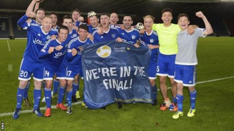 Peterhead are through to their first ever senior cup final