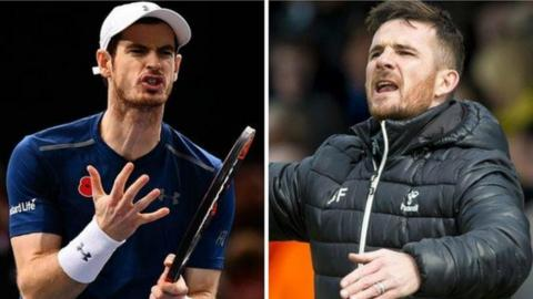 Andy Murray and Barry Ferguson