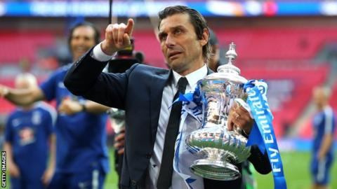 Conte's last act in charge of Chelsea was to deliver the club its eighth FA Cup trophy