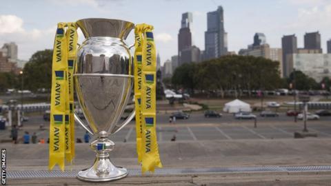 Premiership trophy in Philadelphia