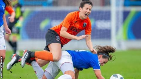 Leanne Crichton: Glasgow City midfielder injury doubt after 'terrible tackle'