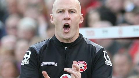 Walsall manager Jon Whitney
