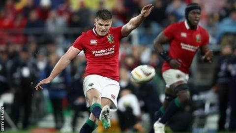 Owen Farrell in action for the Lions