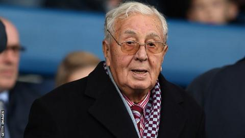 Former Aston Villa chairman Sir Doug Ellis