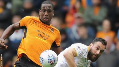 Willy Boly in action for Wolves