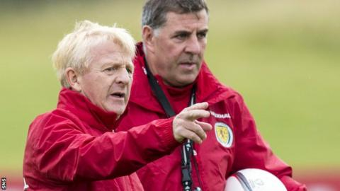 Scotland manager Gordon Strachan and assistant Mark McGhee