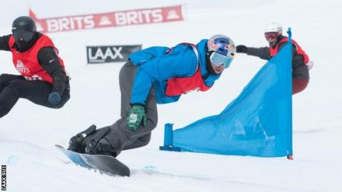 Billy Morgan at the Brits Boardercross