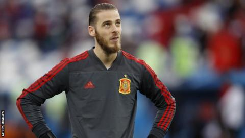 Spain goalkeeper David de Gea
