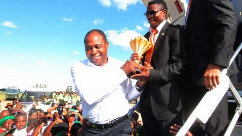 Kalusha Bwalya was Zambia FA president when his nation won the 2012 Africa Cup of Nations