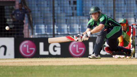 Gary Wilson top-scored for Ireland against Zimbabwe with 38 runs from 35 balls
