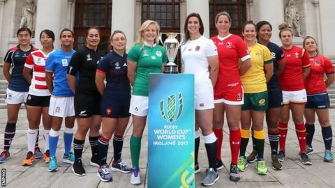 The captains of the teams in the 2017 Women's Rugby World Cup