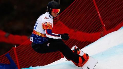 American Para-snowboarder Evan Strong