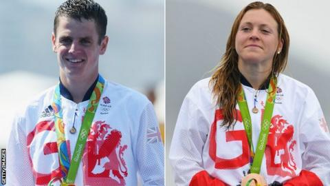 Jonathan Brownlee and Vicky Holland