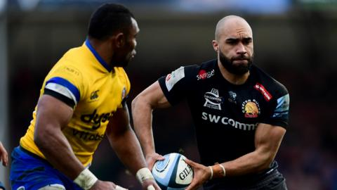 Exeter Chiefs hold a five-point lead at the top of the Premership