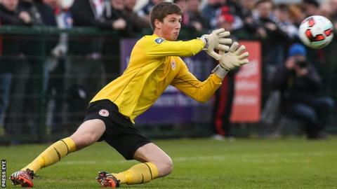St Pat's goalkeeper Conor O'Malley