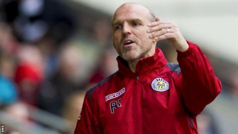 St Mirren manager Alex Rae