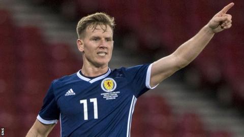 Matt Ritchie in action for Scotland