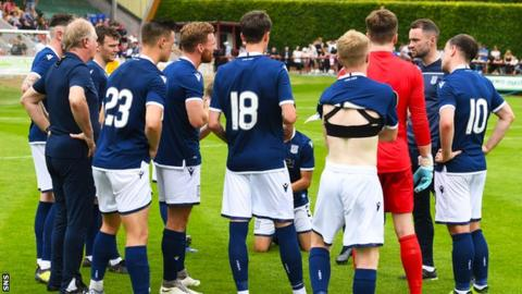 James McPake, second right, will lead Dundee into their Championship campaign
