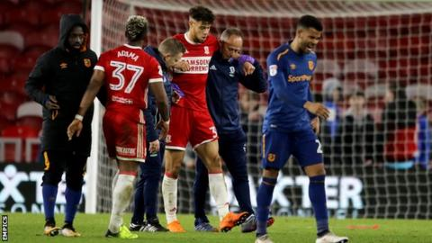 Rudy Gestede picked up the ankle injury late into Middlesbrough's 3-1 win against Hull City