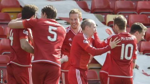 Aberdeen beat Motherwell 4-1 at Pittodrie