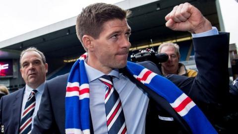 Steven Gerrard at Ibrox