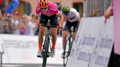 Marianne Vos of the Netherlands at the Giro Rosa