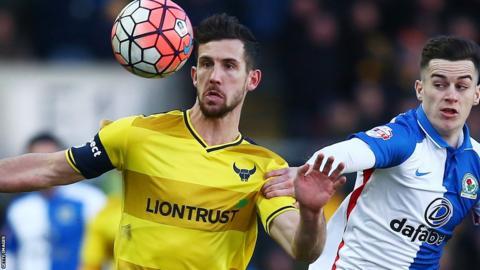 Oxford United captain Jake Wright