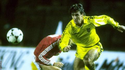 A 2-0 defeat in Czechoslovakia ended Wales' qualification hopes for the 1988 European Championship finals and also signalled the end of Mike England's seven-year spell as manager.