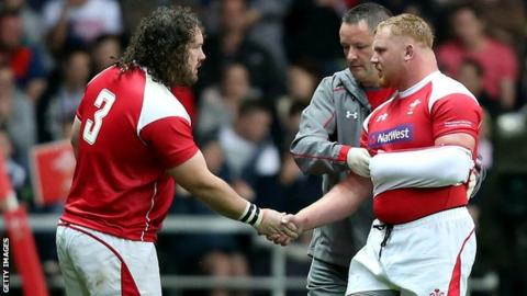 Wales props Adam Jones and Samson Lee