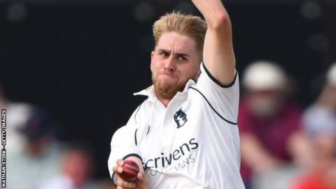 Olly Stone was making his first home Championship debut for Warwickshire following his Bears debut at Old Trafford last August