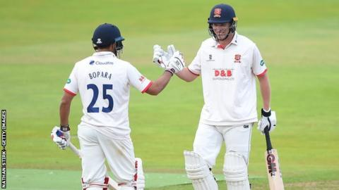 Tom Westley was congratulated by Ravi Bopara after completing his 21st first-class century - but his first of the season