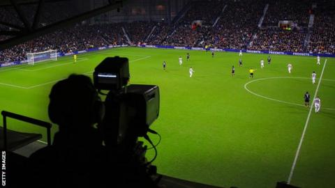 TV camera at a Premier League game