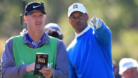 Woods made four birdies and one bogey in his second round