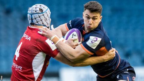 Damien Hoyland in action for Edinburgh