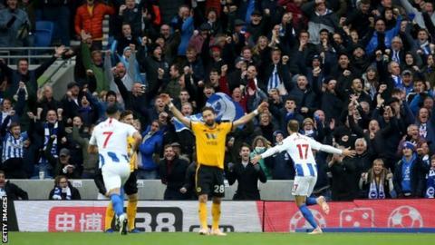Brighton's Glenn Murray celebrates