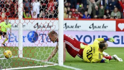 Sam Cosgrove scores for Aberdeen