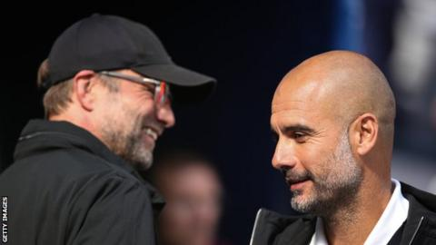 Jurgen Klopp (left) and Pep Guardiola