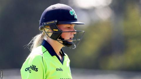 Ireland's Kim Garth scored 34 from 35 balls