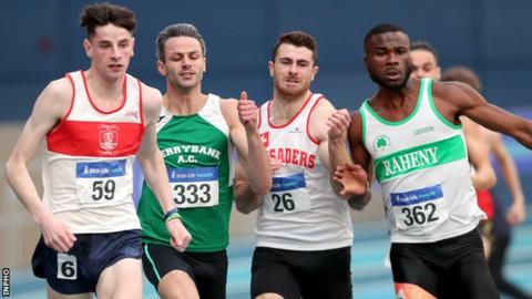 Thomas Barr (second from left) won a European Championship 400m bronze medal in Berlin last summer