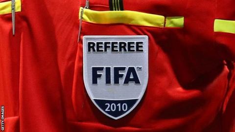 A Fifa referees badge