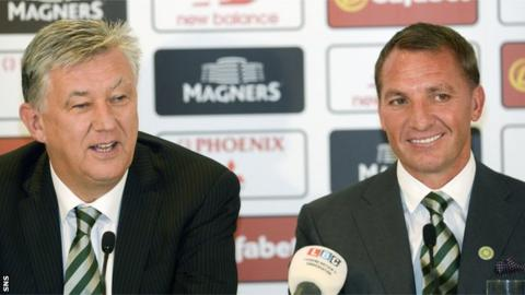 Peter Lawwell and Brendan Rodgers