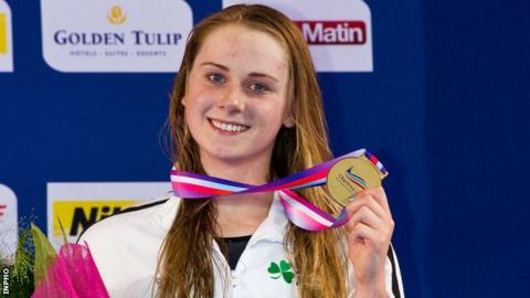 Sycerika McMahon after winning a European Championship 50m breaststroke silver in 2012