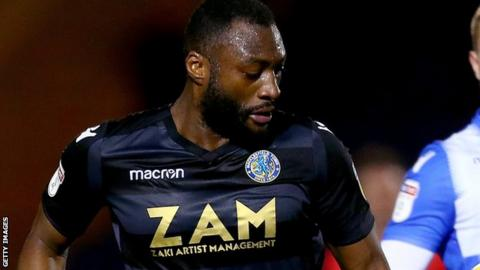 Nathan Cameron in action for Macclesfield