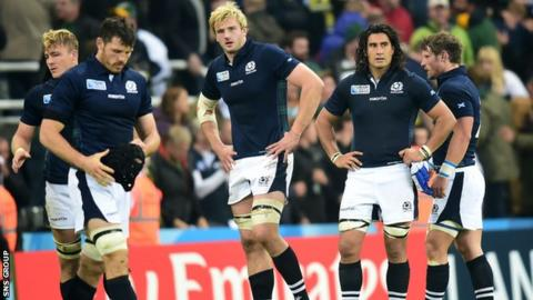 Scotland lost 34-16 to South Africa in Newcastle