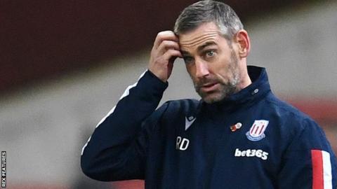 Stoke City caretaker manager Rory Delap