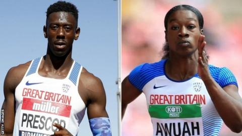 Reece Prescod and Kristal Awuah