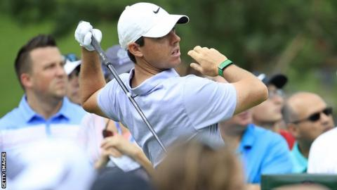 Rory McIlroy carded two double bogeys in his first round at Muirfield Village