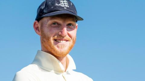 England all-rounder Ben Stokes smiles as he prepares to collect his man of the match award after victory over Australia
