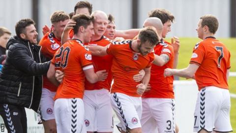Clyde celebrate beating Elgin City